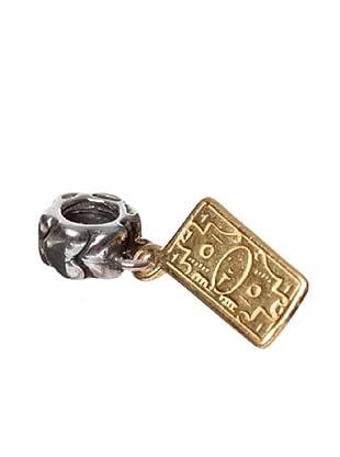 Bacio Abalorio de plata de Ley 925 Hollywood Billete Chapado en Oro