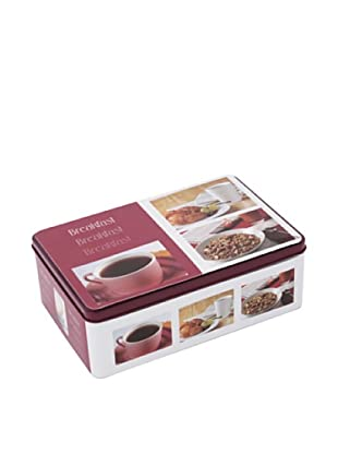 Faveco Caja Metálica Para Azúcar, Motivo Desayuno