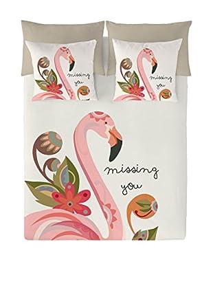Valentina Juego De Funda Nórdica Flamingo
