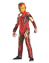 """Rubies Marvel Universe Classic Collection Avengers Assemble Deluxe Muscle-Chest Iron Man Costume, 44-48"""" Tall"""