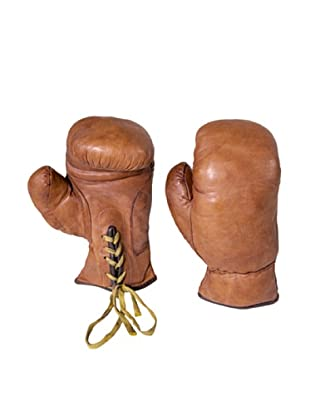 Gargoyles Ltd. Vintage Replica Pair of Boxing Gloves, Brown