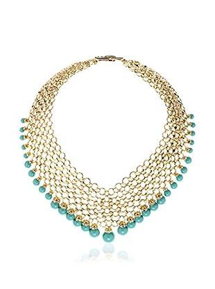 Melissa Kandiyoti Jewels Halskette Studio 54 grün/vergoldet