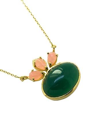 Melin Paris Collar Ágata Melocotón, Ónix Verde