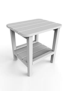 "Malibu Outdoor Furniture 15"" x 19"" End Table (White)"