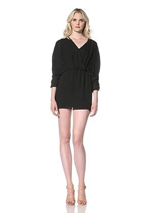 Parker Women's Short Ruched Dress (Black)