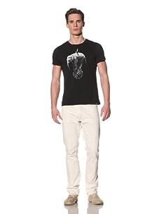 Tee Library Men's Elephant Vehicle Crew Neck T-Shirt (Black)