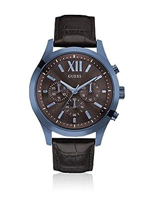 Guess Uhr mit japanischem Mechanikuhrwerk Man Elevation Blue blau 46 mm