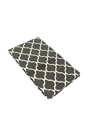 Glam Home Teppich Saman grau/weiß
