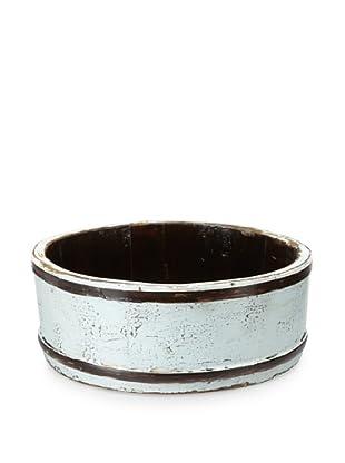 Royola Pacific Short Round Wooden Bucket (Robin's Egg Blue)