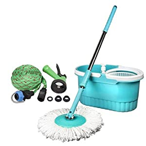 Birde 360 Degree Spin Mop + Car Washer Combo