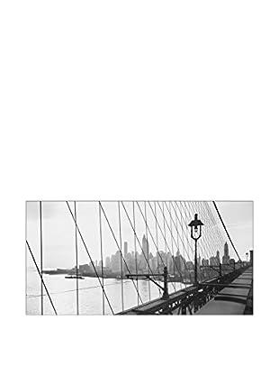 ArtopWeb Panel de Madera Manhattan See Throught Cables Of B.Bridge 1937