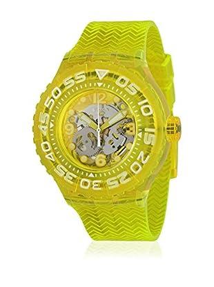 Swatch Reloj de cuarzo Unisex Lemon Profond  44 mm