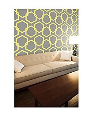Tempaper Designs Honeycomb Self-Adhesive Temporary Wallpaper, Citron, 20.5
