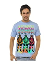 Retro Heroes Light Blue T shirts