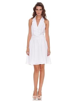 Naf Naf Vestido Chorrera (blanco)