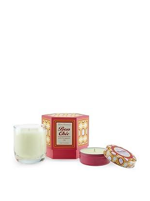 Seda France Pink Frangipani Lily Bon Chic Candle and Travel Tin Set