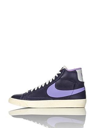 Nike Zapatillas Wmns Blazer Mid Lthr (Vntg) (Azul Marino/Lila)