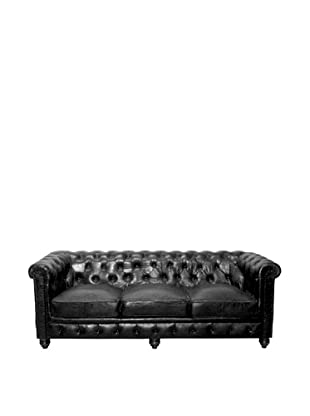 Chesterfield Sofa, Raven, Black