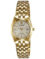 Citizen Analog Gold Dial Women's Watch - EW2292-67P