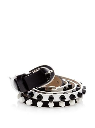 Cortefiel Cinturón Doble Tachas (Negro)