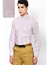 Brown Stripes Casual Shirt