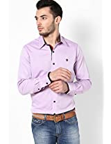 Solid Lilac Casual Shirt