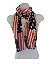 Women's Patriotic Polyester Scarf - USA Flag