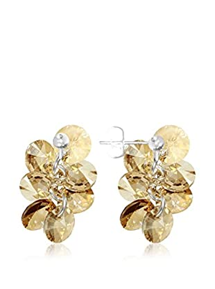 So Charm with Crystals from Swarovski Pendientes  Dorado