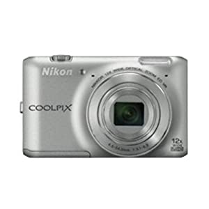 Nikon Coolpix S6400 16MP Point and Shoot Camera (Silver) with 12x Optical Zoom, 4GB Card, Camera Case and HDMI Cable