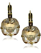 "Liz Palacios ""Arco Iris"" Swarovski Elements Golden Shadow Earrings"