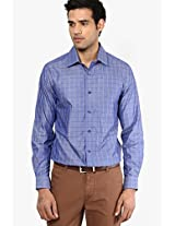 Blue Check Slim Fit Casual Shirt Peter England