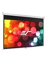 "Elite Screens 100 Inch 16:9 Manual Slow Retract Projector Screen (49""Hx87""W)"