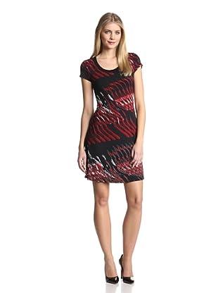Karen Kane Women's Cap Sleeve A-Line Dress (Print)