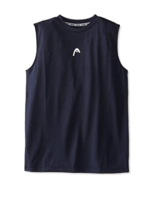 HEAD Men's Sleeveless Hypertek T-Shirt (Navy Heather)