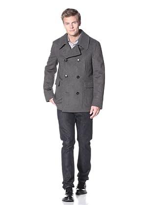 Gucci Men's Cappotto Wool Classic Coat (Light Grey)