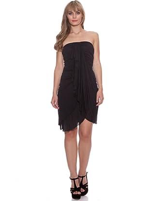 Santa Bárbara Vestido Con Elástico (Negro)
