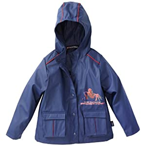 Marvel Little Boys' Spiderman Rainslicker, Blue, 4-5