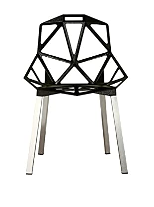 Baxton Studio Uberto Aluminum Side Chair, Black