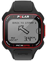 Polar RC3 GPS Heart Rate Monitor and Sports Watch, 25 x 4 x 1.5cm (Black/Red)