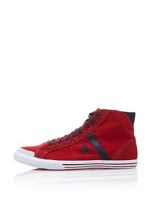 Le Coq Sportif Zapatillas Saint Malo Mid Cotton Pique (Rojo)
