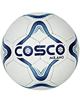 Cosco Milano Foot Ball, Size 5  (White/Blue/Black)