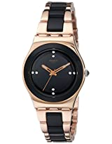 Swatch Analog Black Dial Women's Watch - YLG123G