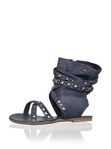 XTI Kid's Sandal with Wraparound Ankle Cuff (Navy)