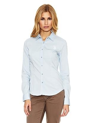 US Polo Assn Camisa Pinzas (Azul Claro)