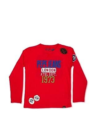 Pepe Jeans London Camiseta Eade (Rojo)