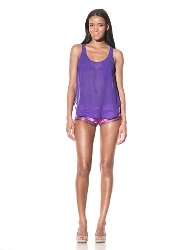 La Fée Verte Women's Chiffon Tank Top (Purple)