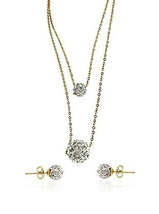 Art de France Set Halskette und Ohrringe  silber/gold