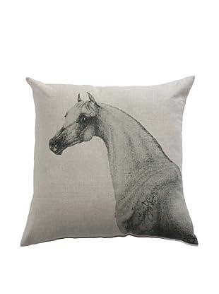 Filling Spaces Horse Profile Print Pillow, Beige