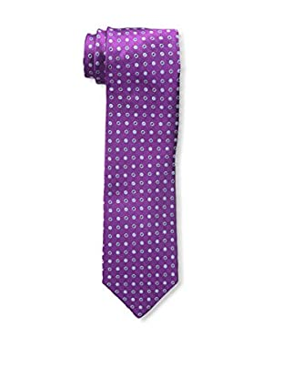 Bruno Piattelli Men's Slim Dotted Tie, Fuschia