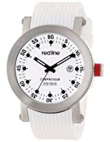 red line Men's RL-18000-02-WHT-ST-SET Compressor White Dial White Silicone Watch Set